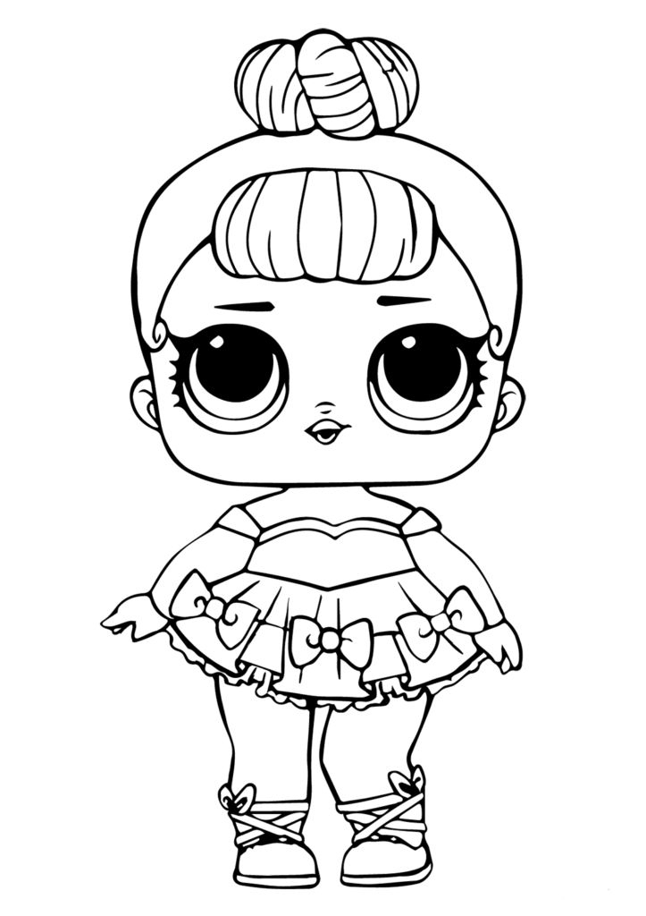 Lol Doll Coloring Page Miss Baby Glitter | Baby Coloring concernant Coloriage Lol