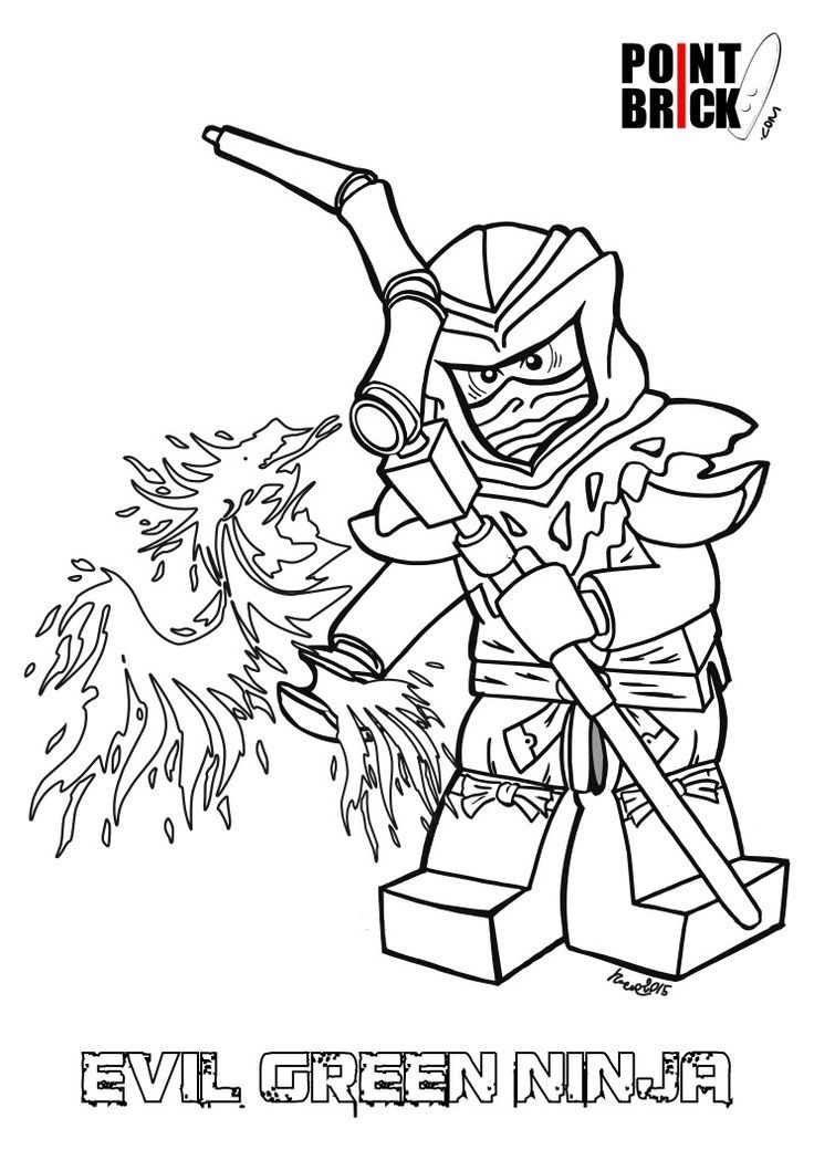 Lovely Ninjago Green Ninja Coloring Pages Follows serapportantà Coloriage Lego Ninjago
