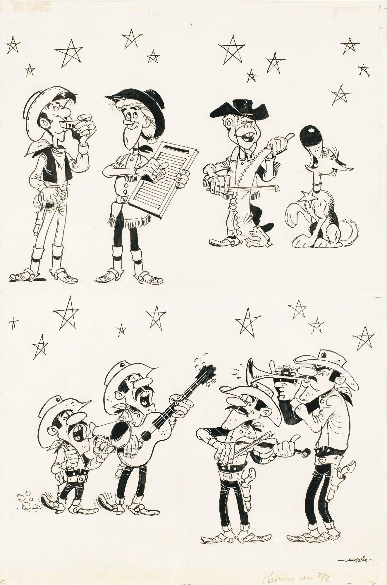 Lucky Luke, Les Dalton, Calamity Jane, Billy The Kid Et concernant Coloriage Lucky Luke A Imprimer Gratuit
