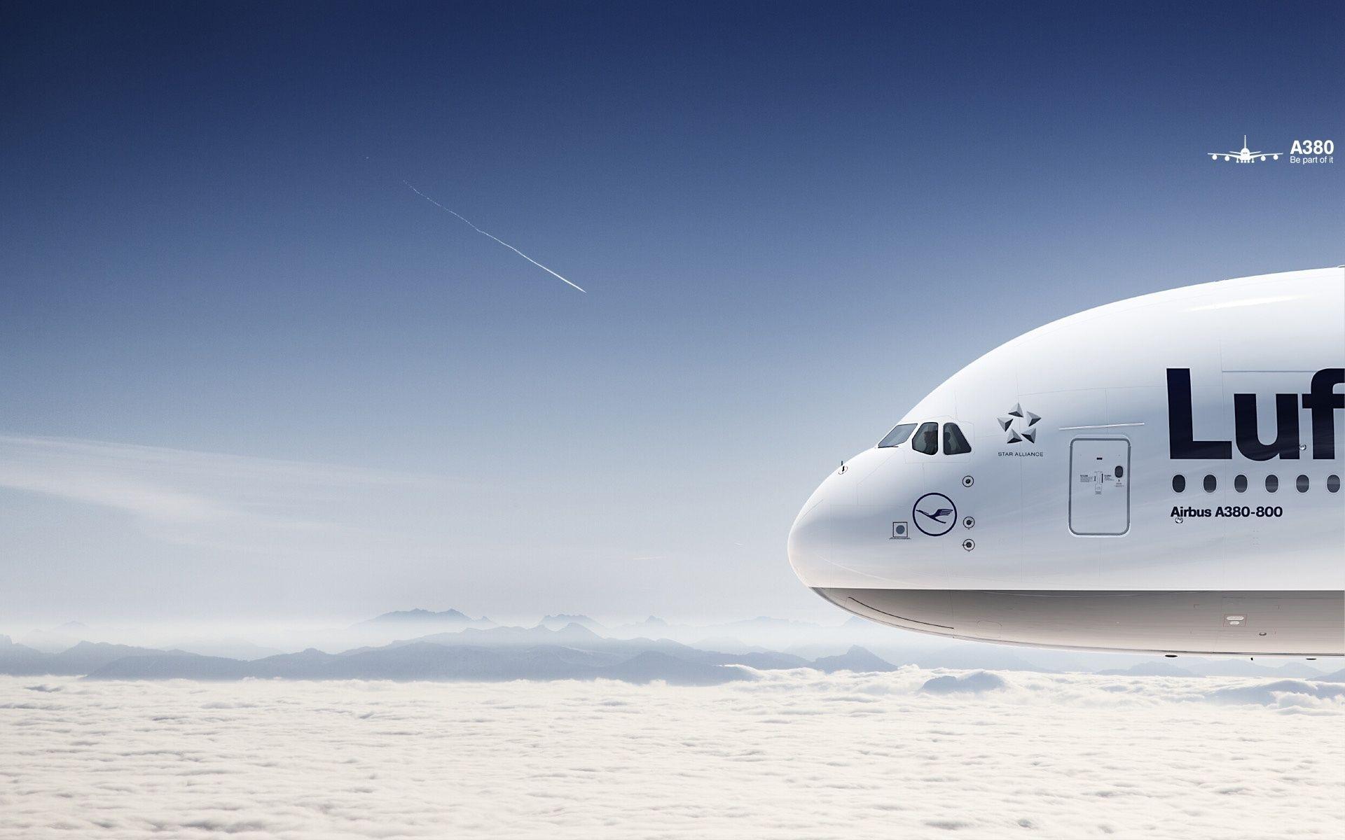 Lufthansa Airbus A380 Aviation Hd Wallpaper | Aerei serapportantà Fond D'Ecran Hd Themes Elie S Book