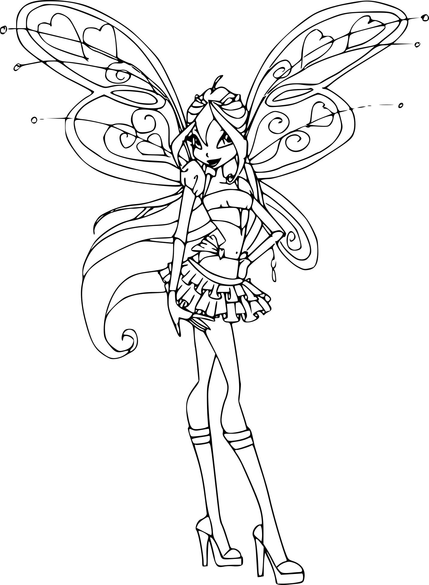 Luxe Dessin A Colorier Winx Bloom – Mademoiselleosaki destiné Coloriage De Winx Club