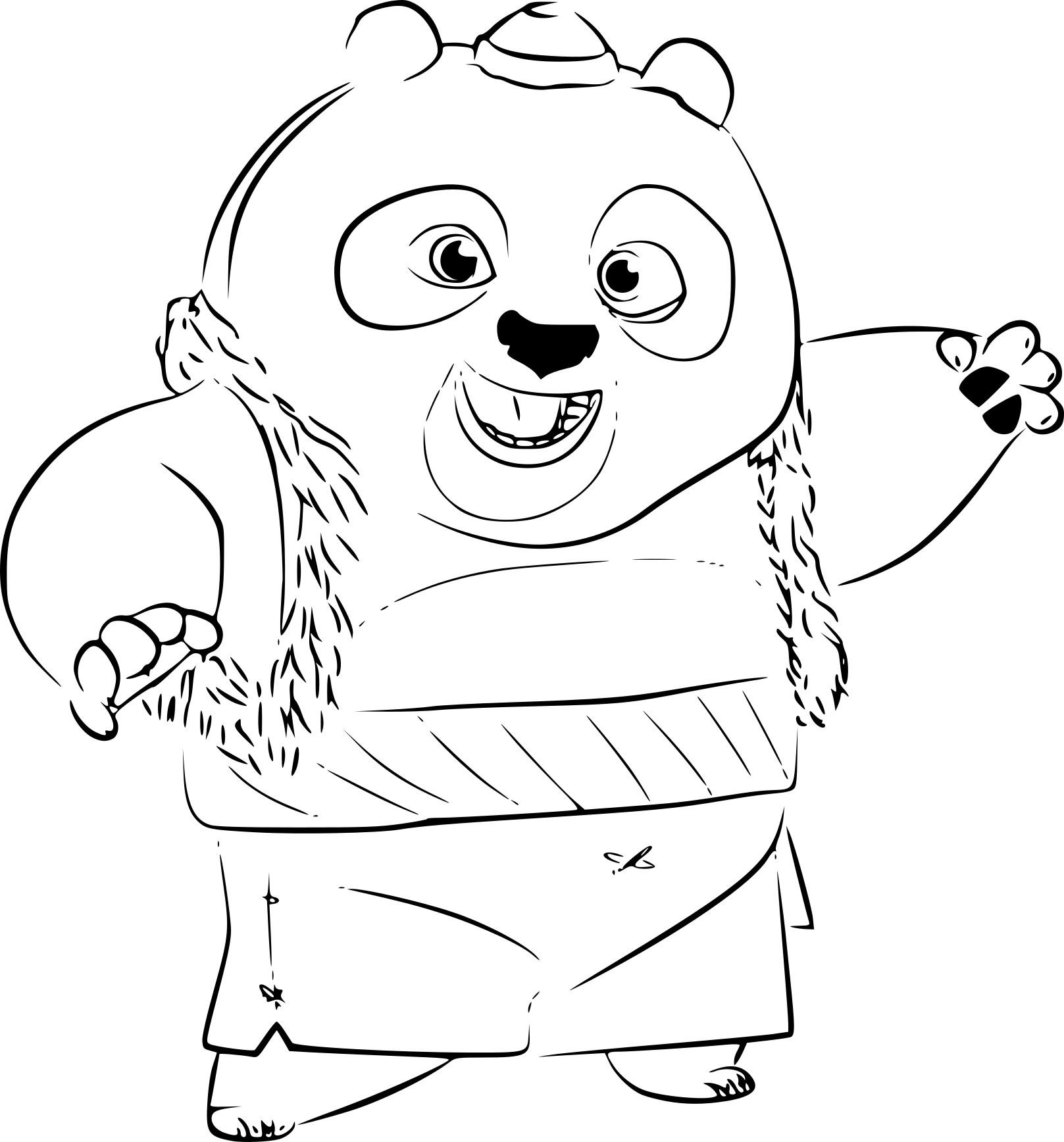 Luxe Dessin De Kung Fu Panda A Colorier encequiconcerne Panda A Colorier