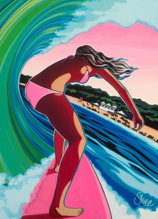 Ma Bulle : Photos | Dessin Surf, Art À Thème Surf, Art Surf encequiconcerne Dessin Surfeur