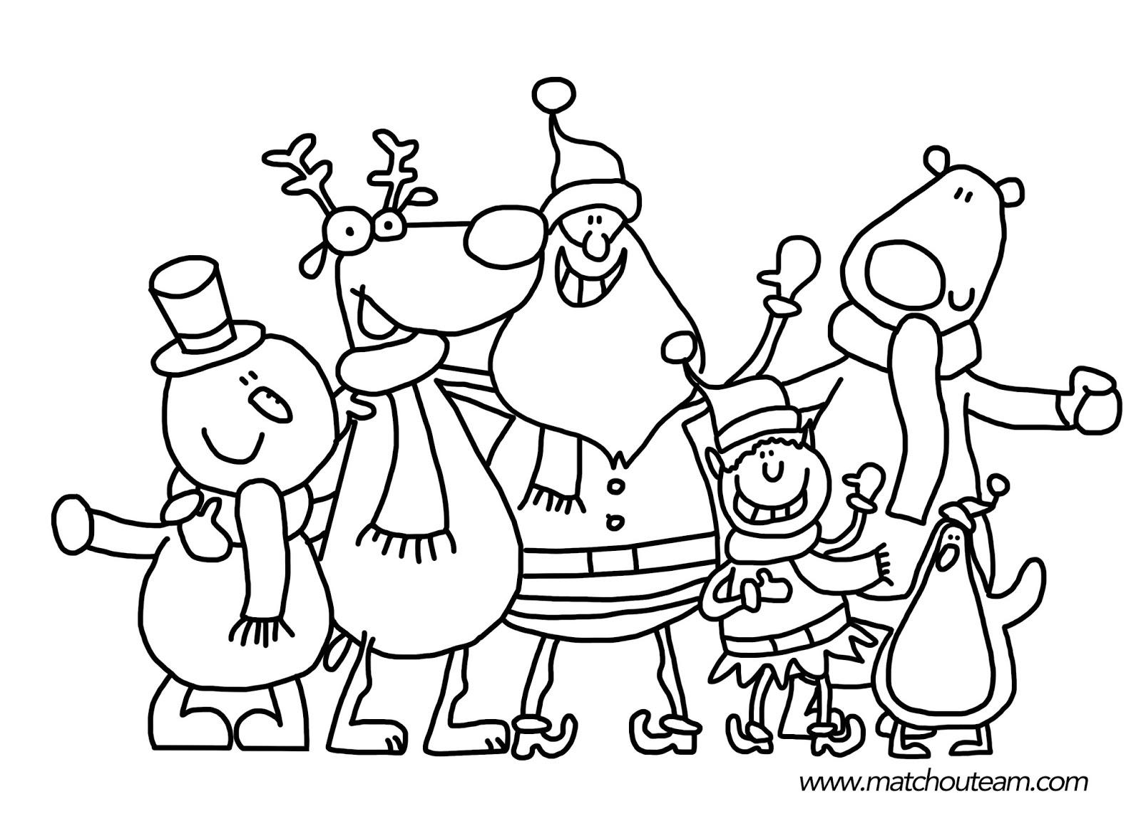 Ma Tchou Team: Coloriages Et Jeux Pour Noël intérieur Dessin De Noel A Imprimer Gratuit