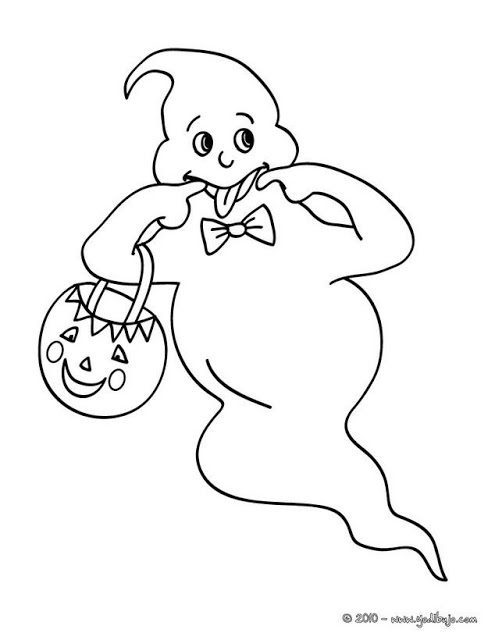 Maestra De Infantil: Fantasmas Para Colorear. Halloween. intérieur Fantome Dessin