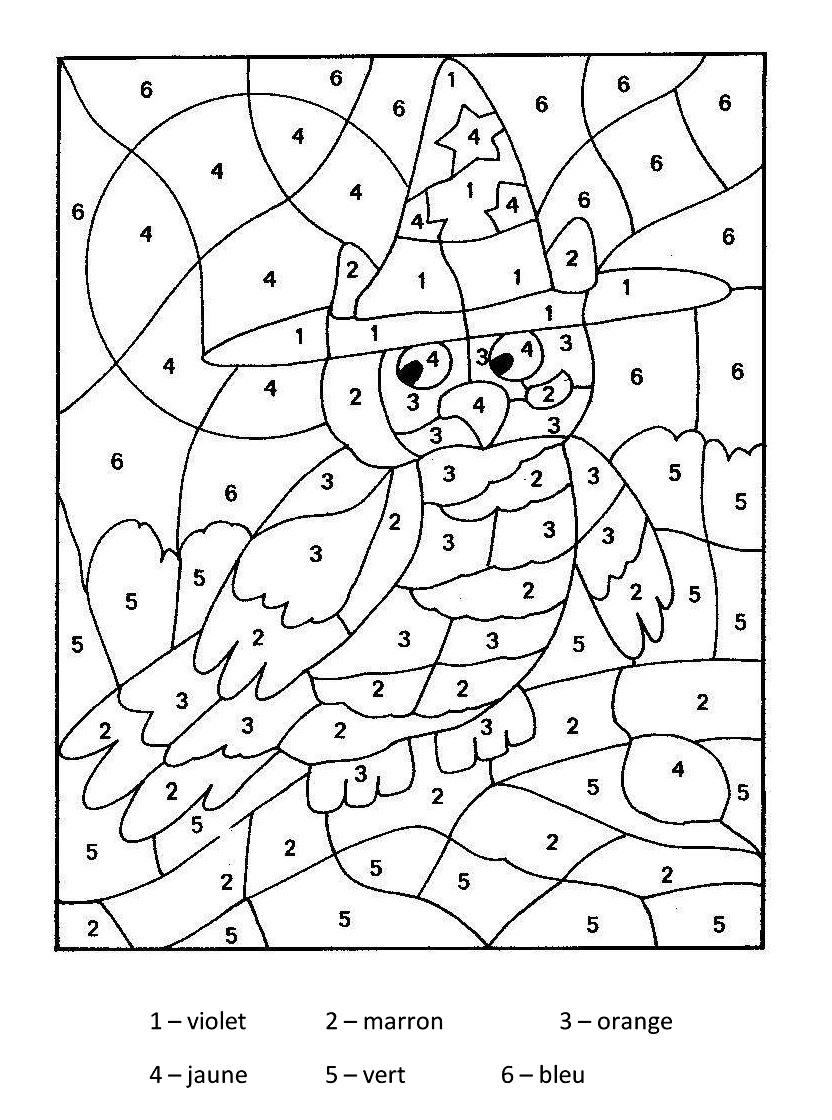 Magique Hibou - Coloriage Magique - Coloriages Pour Enfants intérieur Coloriage À Chiffre A Imprimer