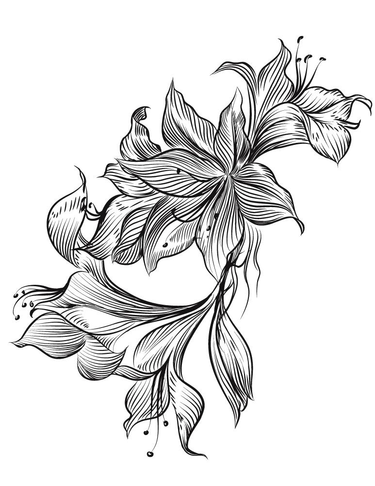 Magnifique Fleurs À Imprimer Gratuit Pour Adulte destiné Coloriage Bouquet De Fleurs A Imprimer
