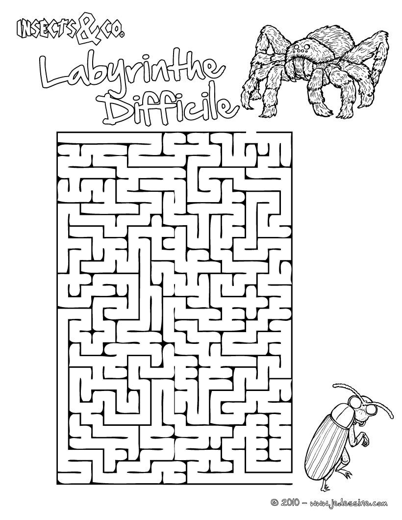 Magnifique Labyrinthe Du Minotaure À Imprimer - Dragono.fr tout Jeux Labyrinthe Difficiles