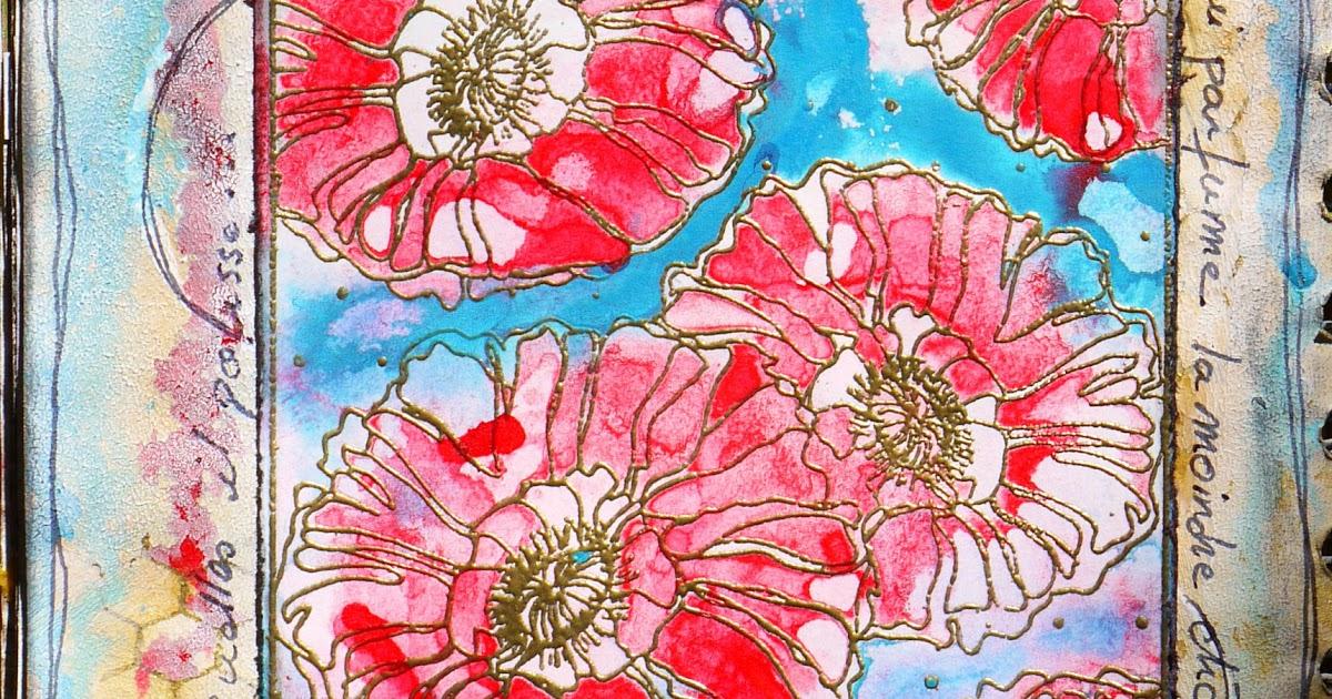 Mag&Scrap: Art Journal : L'Amour Est Une Fleur Printanière pour Ma Main Est Une Fleur