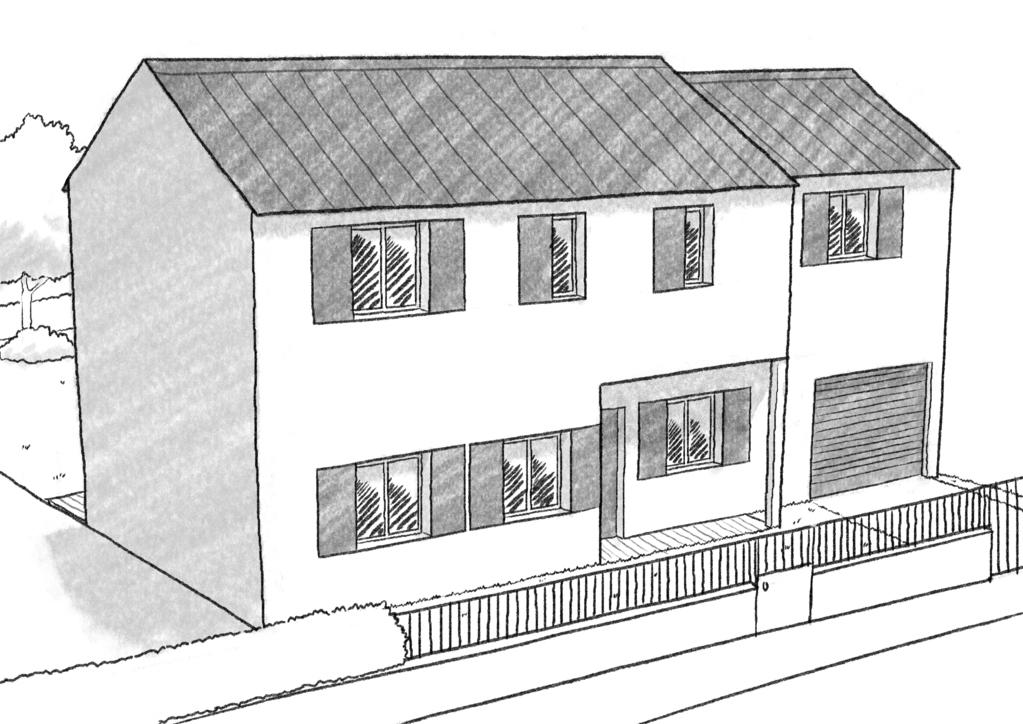 Maison Etage Rectangulaire avec Dessin De Maison Moderne