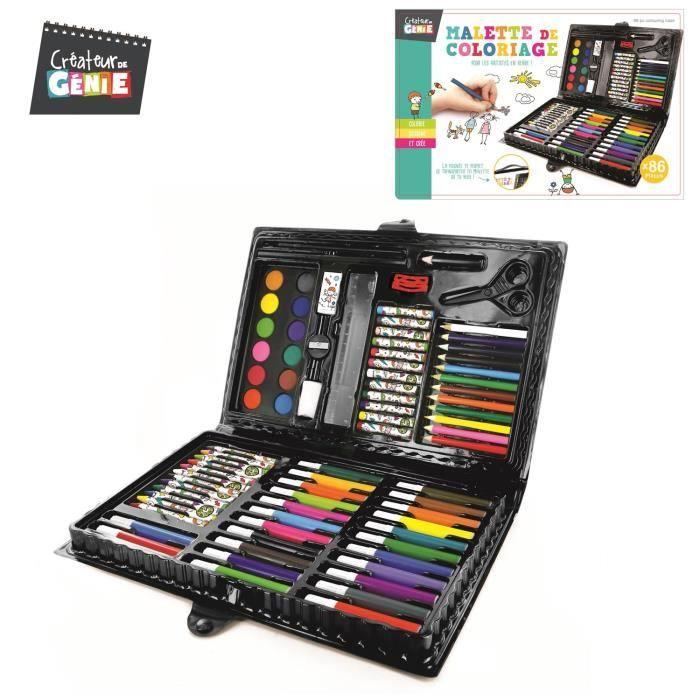 Malette De Coloriage 86 Pièces Feutres Crayons De Couleurs avec Malette De Coloriage