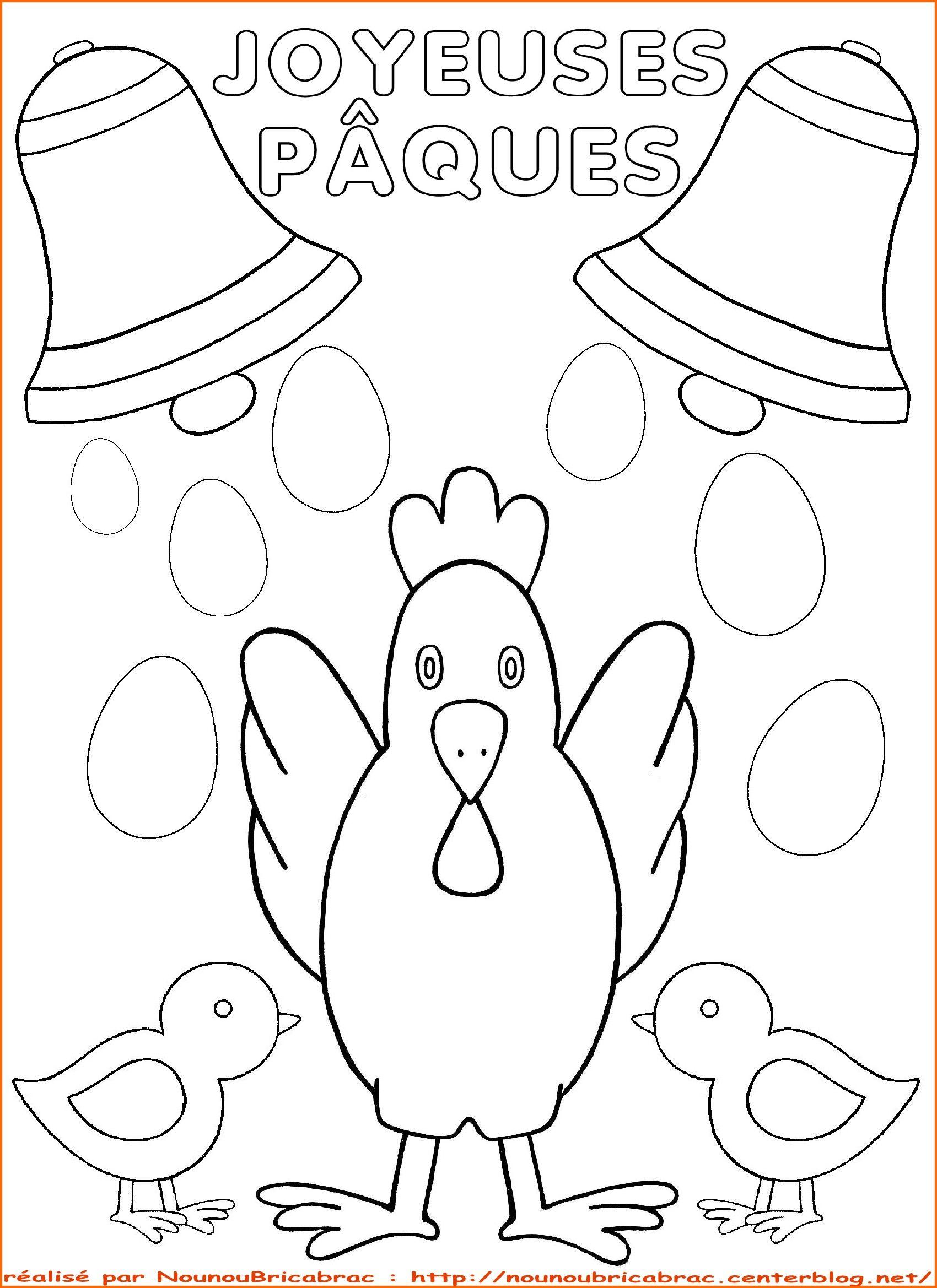 Maman Poule Et Ses Poussins *Joyeuses Pâques* À avec Coloriage À Imprimer Joyeuses Pâques