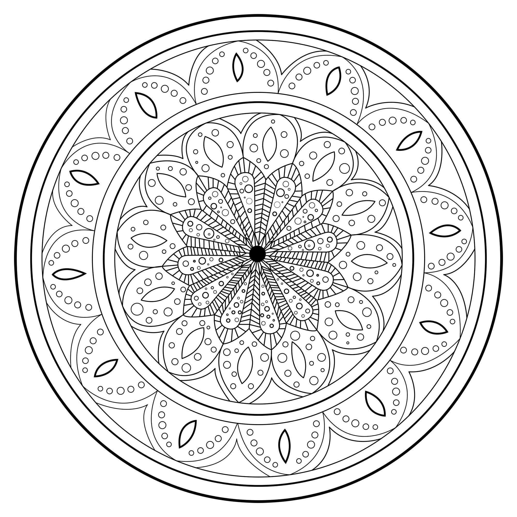 Mandala 2 - Mandalas - Coloriages Difficiles Pour Adultes à Mandala Coloriage