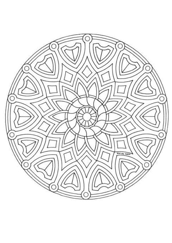 Mandala 3C Coloring Pages - Hellokids avec Mandala Cm2