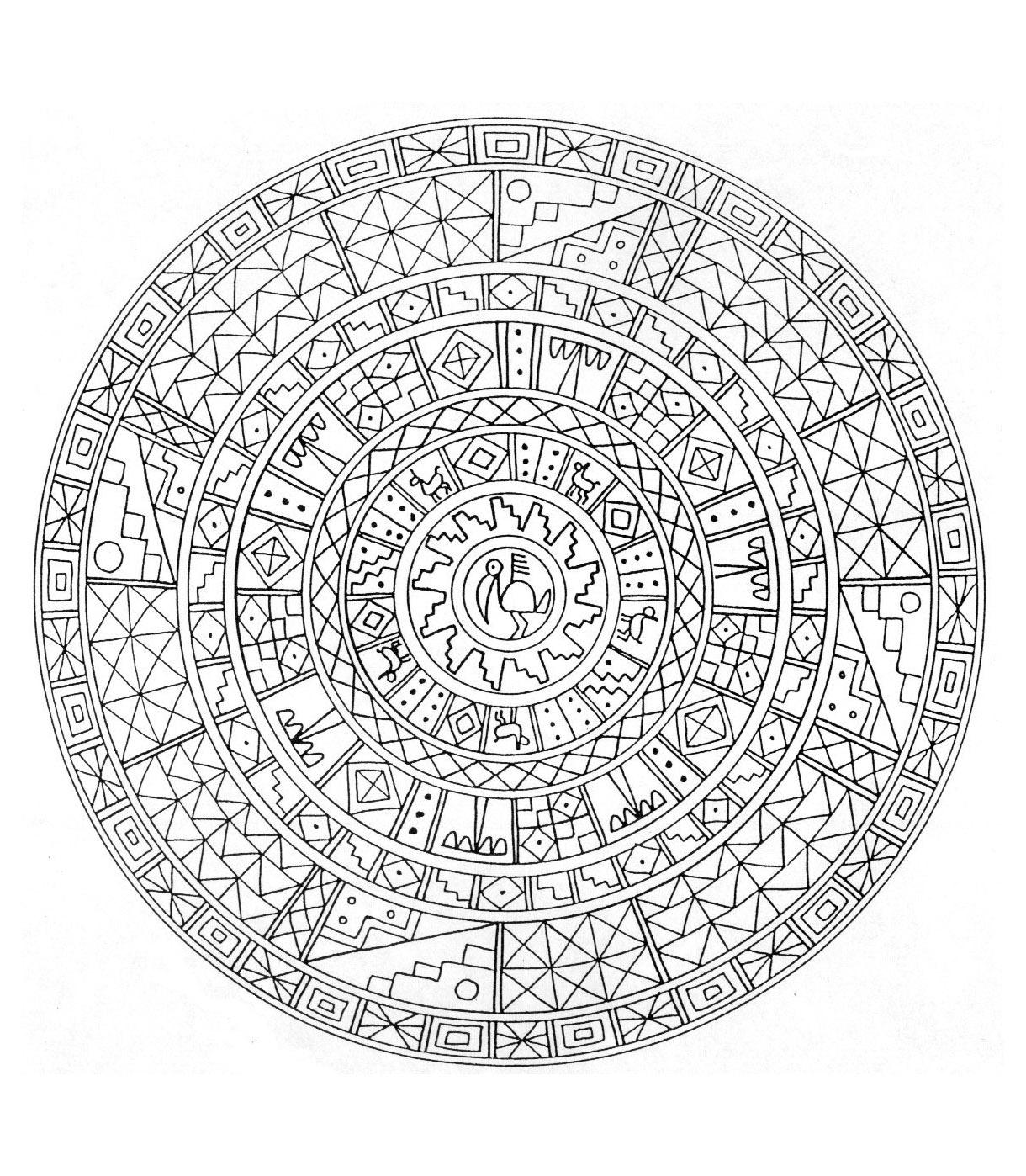 Mandala 6 - Mandalas - Coloriages Difficiles Pour Adultes à Coloriage De Mandala Difficile A Imprimer