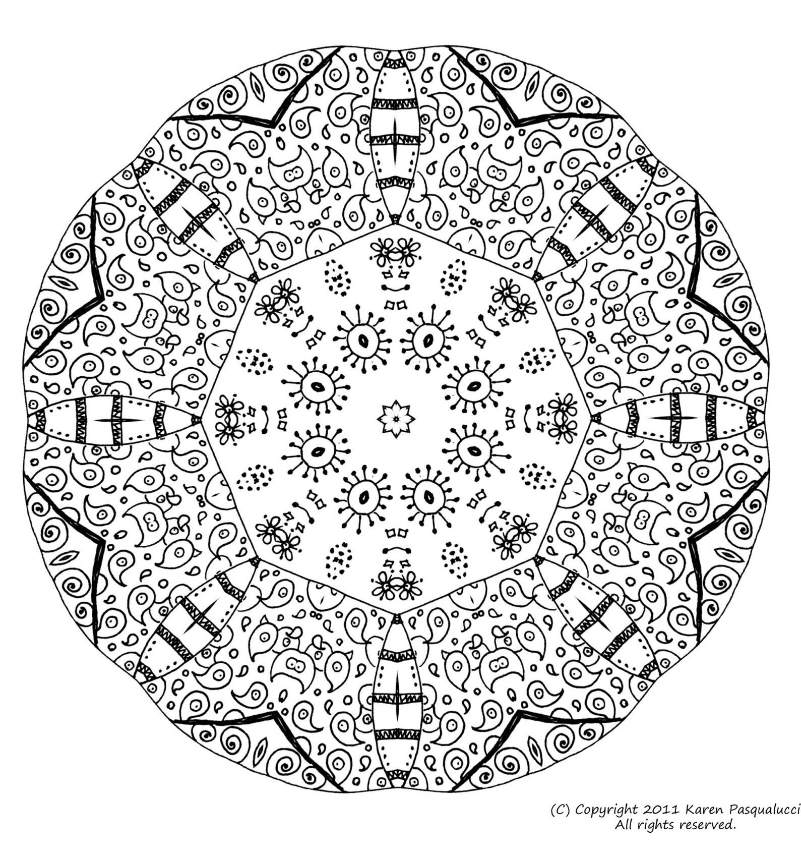 Mandala 6 - Mandalas - Coloriages Difficiles Pour Adultes avec Imprimer Coloriage Mandala