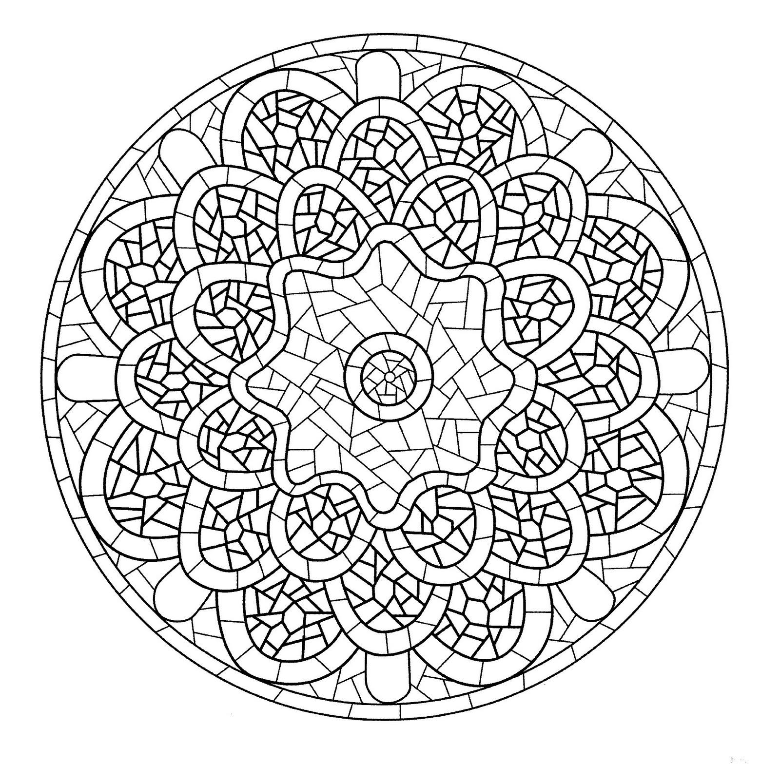Mandala A Imprimer 13 - Coloriage Mandalas - Coloriages à Mandala Pour Petit