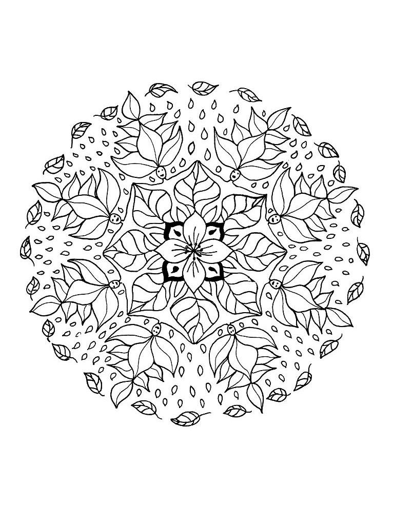 Mandala A Imprimer 14 - Coloriage Mandalas - Coloriages dedans Mandala Pour Petit