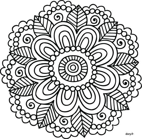 Mandala À Imprimer - Recherche Google … | Mandalas | Pinte… intérieur Mandala A Dessiner