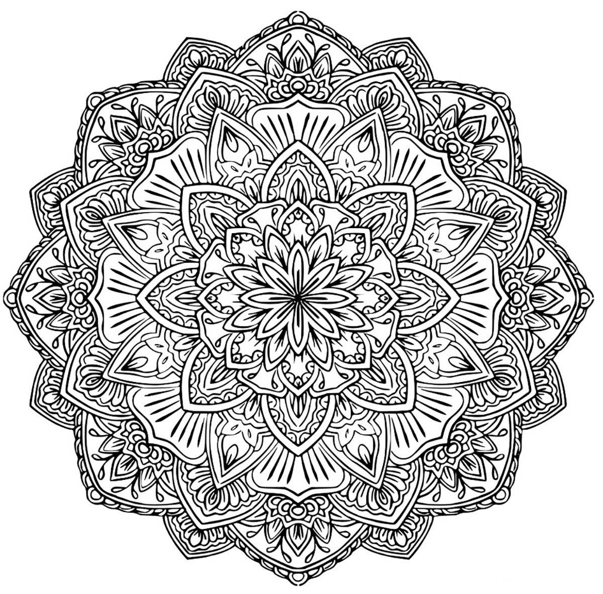 Mandala A Telecharger 1A Partir De La Galerie : Mandalas pour Coloriage Mandala Adulte A Imprimer