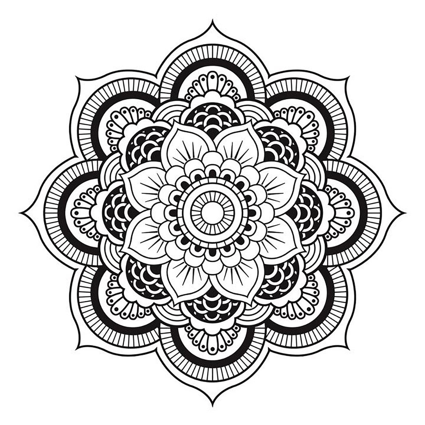 Mandala A Telecharger Et Colorier Fleur - Mandalas concernant Coloriage Mandala Adulte A Imprimer