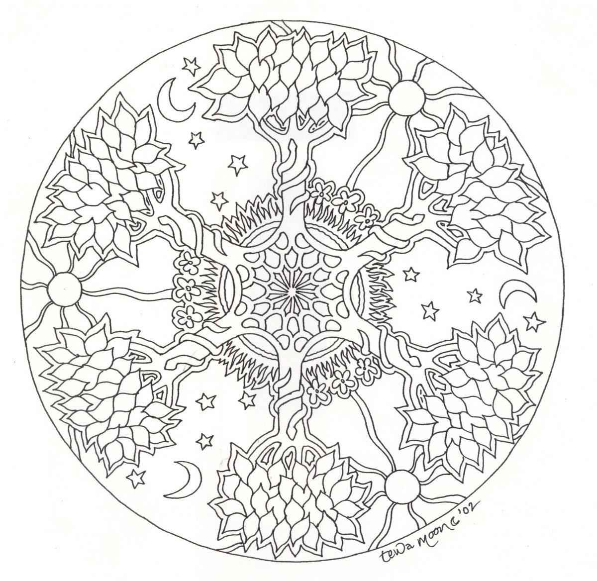 Mandala Arbre #Mandala #Mandalas #Coloriage | Mandala À pour Jeux De Coloriage Mandala