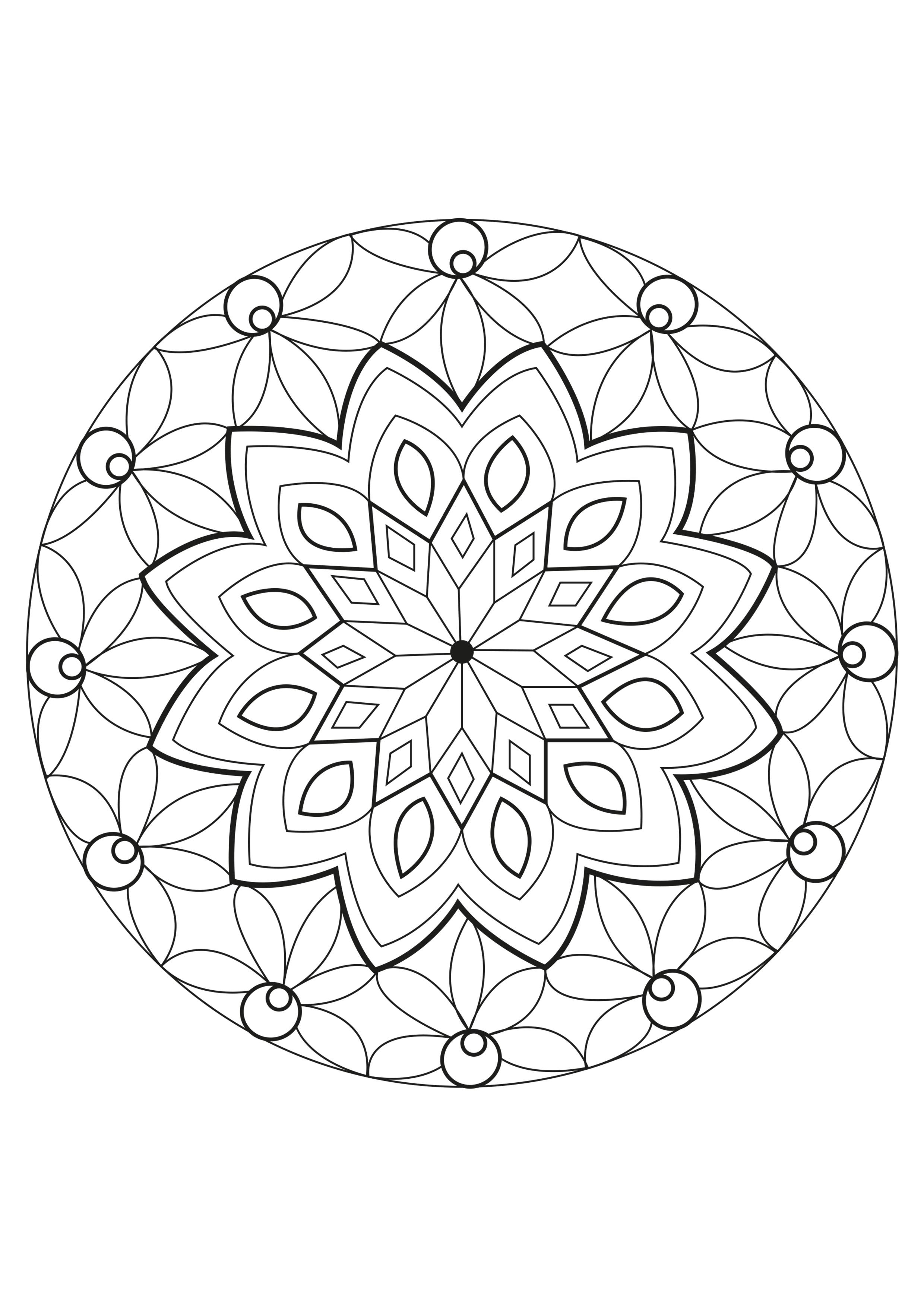 Mandala Celine - Mandalas - Coloriages Difficiles Pour Adultes dedans Coloriage Mandala Adulte