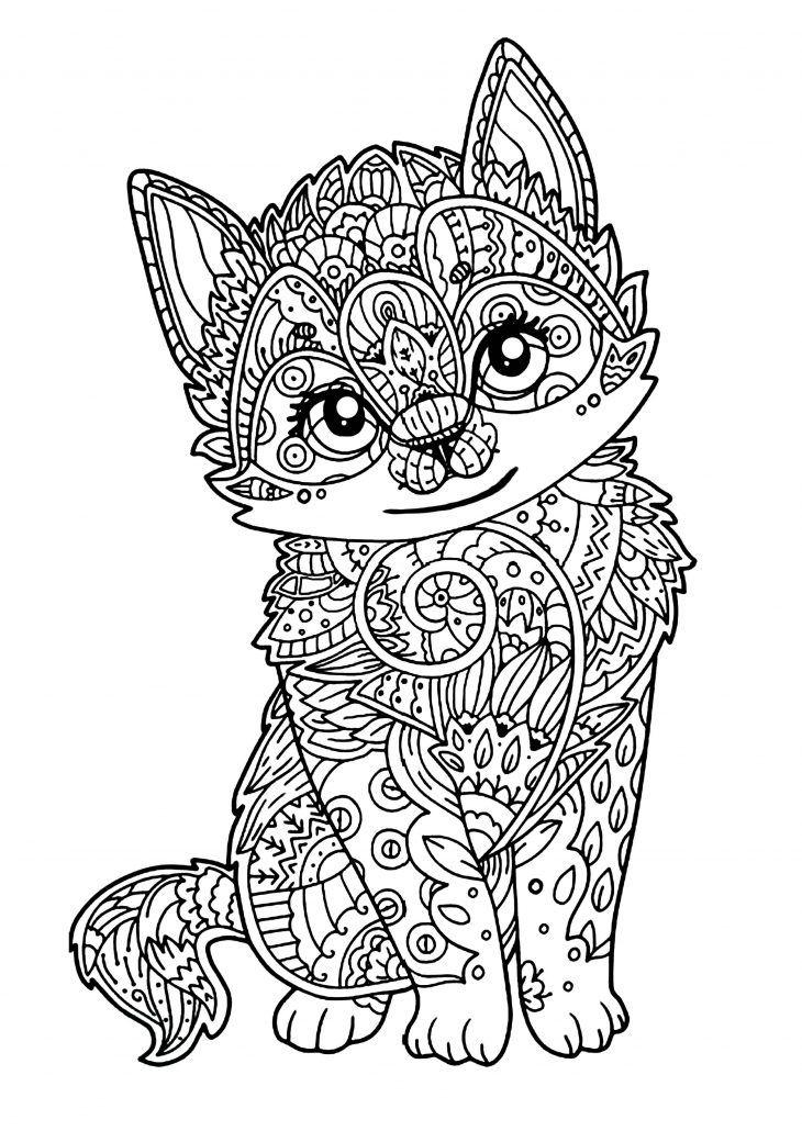 Mandala Chat - Galerie Uage All Interno Mandala D avec Mandala Animaux À Imprimer Gratuit