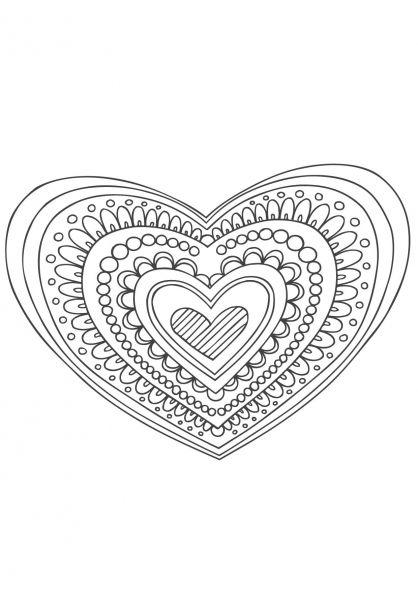 Mandala Coeur | Mandalas, Agradecimiento A Profesores Y tout Coloriage Rosace À Imprimer Gratuit
