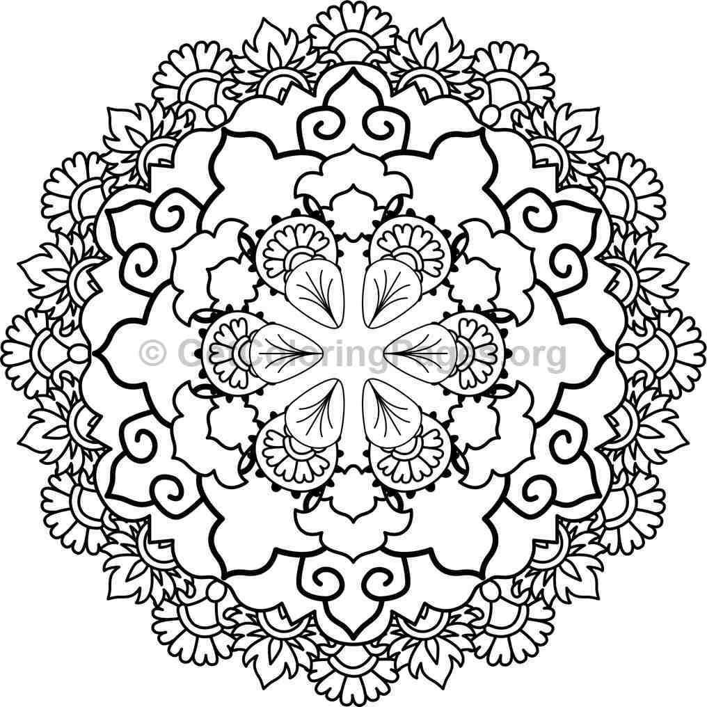 Mandala Coloring Pages #12 – Getcoloringpages encequiconcerne 100 Greatest Mandala Coloring Book: