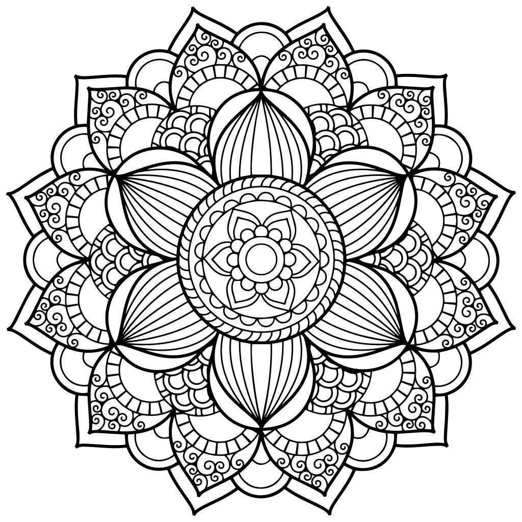 Mandala Coloring Pages | Mandala Coloring Pages, Pattern pour Coloriage Mandala Anti Stress