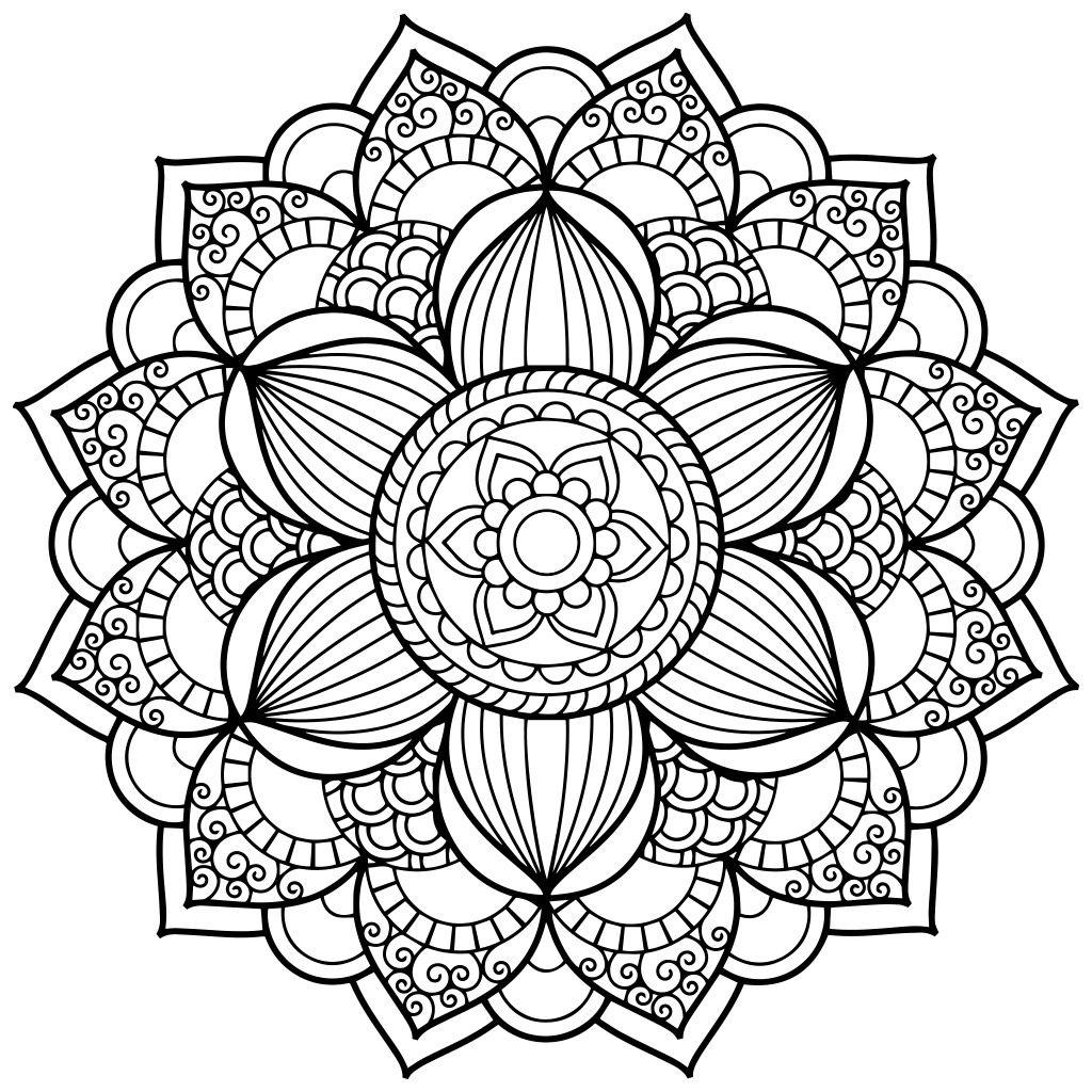 Mandala Coloring Pages | Mandala Coloring Pages, Pattern tout Dessin Rosace Fleur