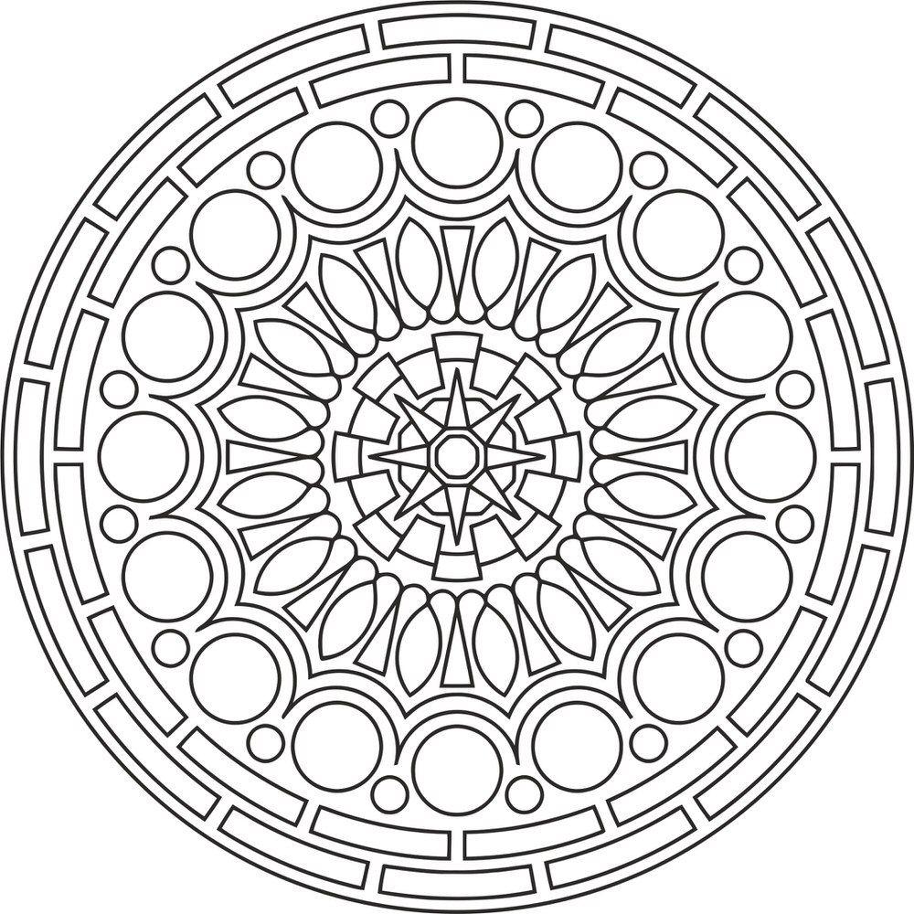 Mandala Des Round Free Vector Cdr Download | Coloriage tout Jeux De Coloriage Mandala