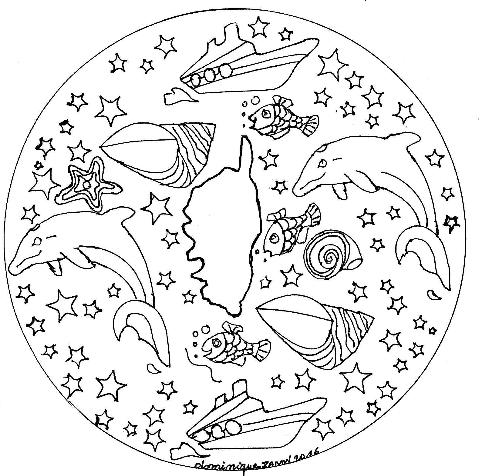 Mandala Domandalas Corse - Mandalas - Coloriages avec Site De Coloriage À Imprimer