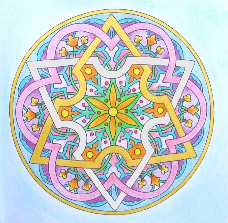 Mandala Du Jour - Le Blé D'Or Créations serapportantà Mandala Colorié