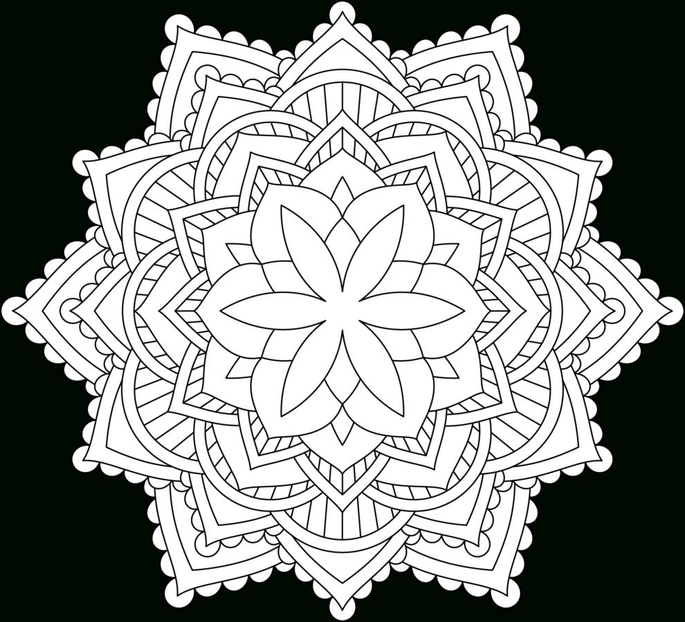 Mandala Flor Dificultad Media 07 • Imprime Mandalas concernant Coloriage Mandala
