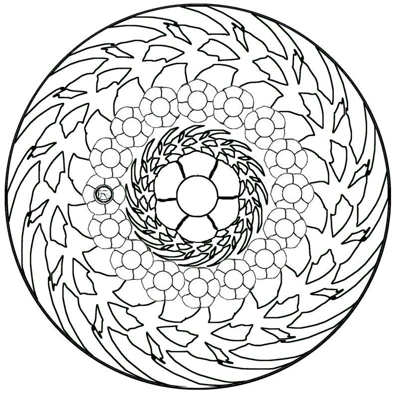 Mandala Gratuit À Colorier concernant Mandala À Colorier En Ligne