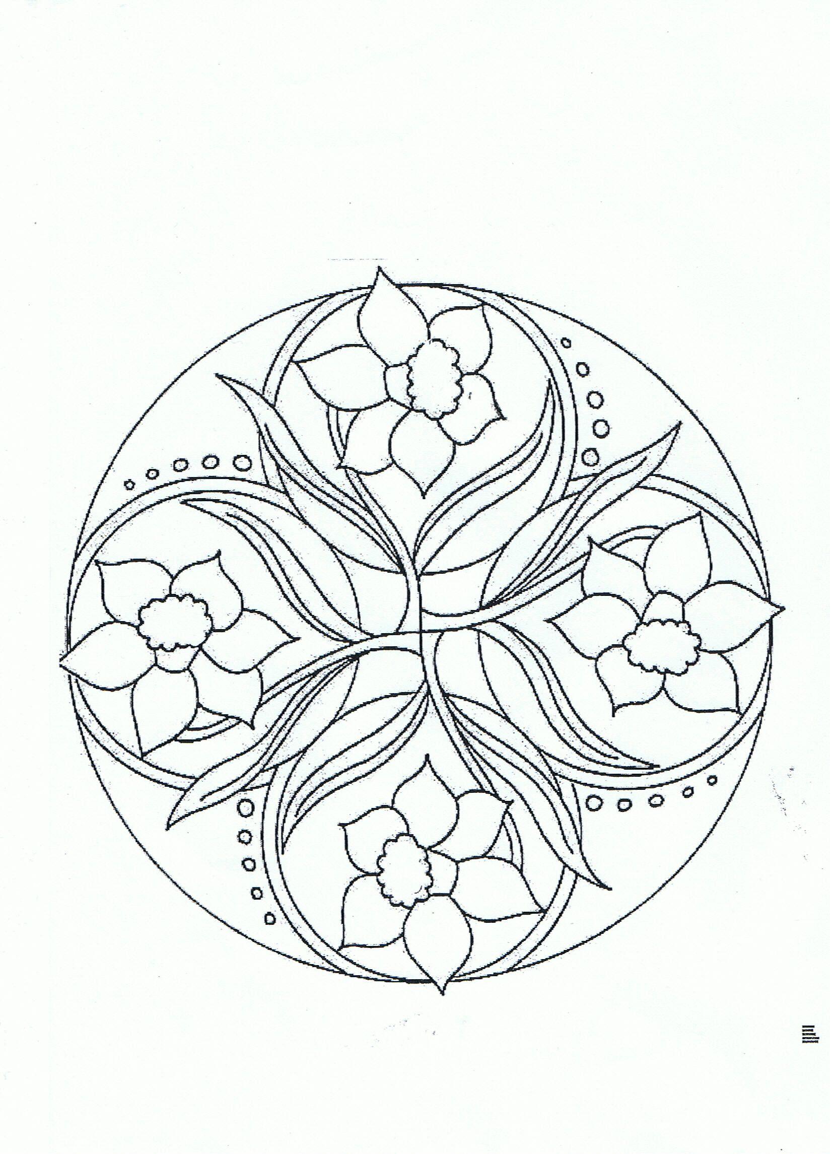 Mandala Jonquilles | Mandala, Coloriage Et Jonquille destiné Jonquille Dessin