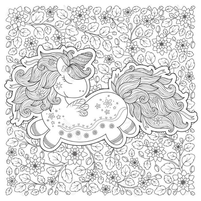 Mandala Licorne A Colorier – Oneup avec Coloriage Magique Pour Adulte