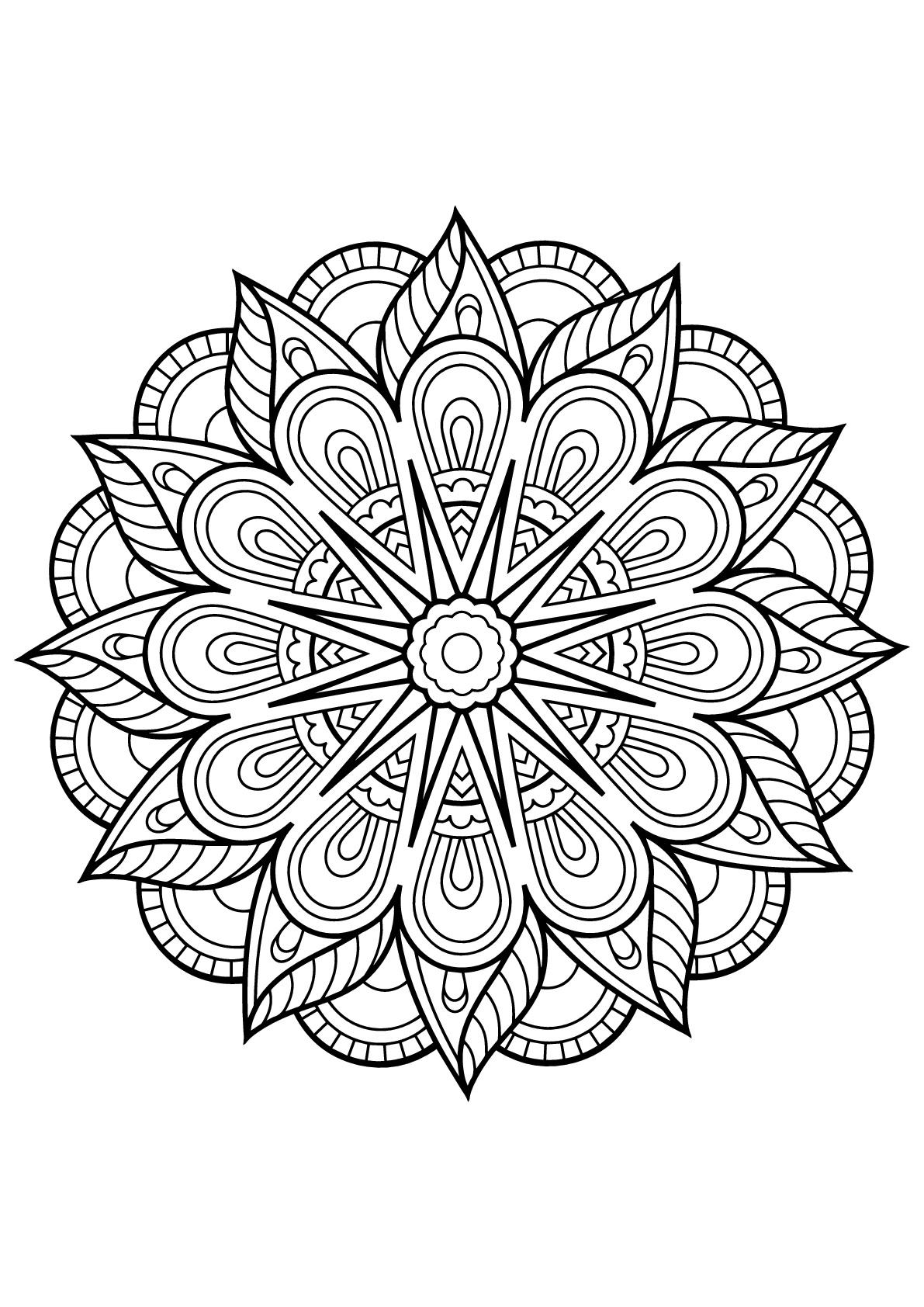 Mandala Livre Gratuit 1 - Mandalas - Coloriages Difficiles destiné Coloriage Adulte Mandala