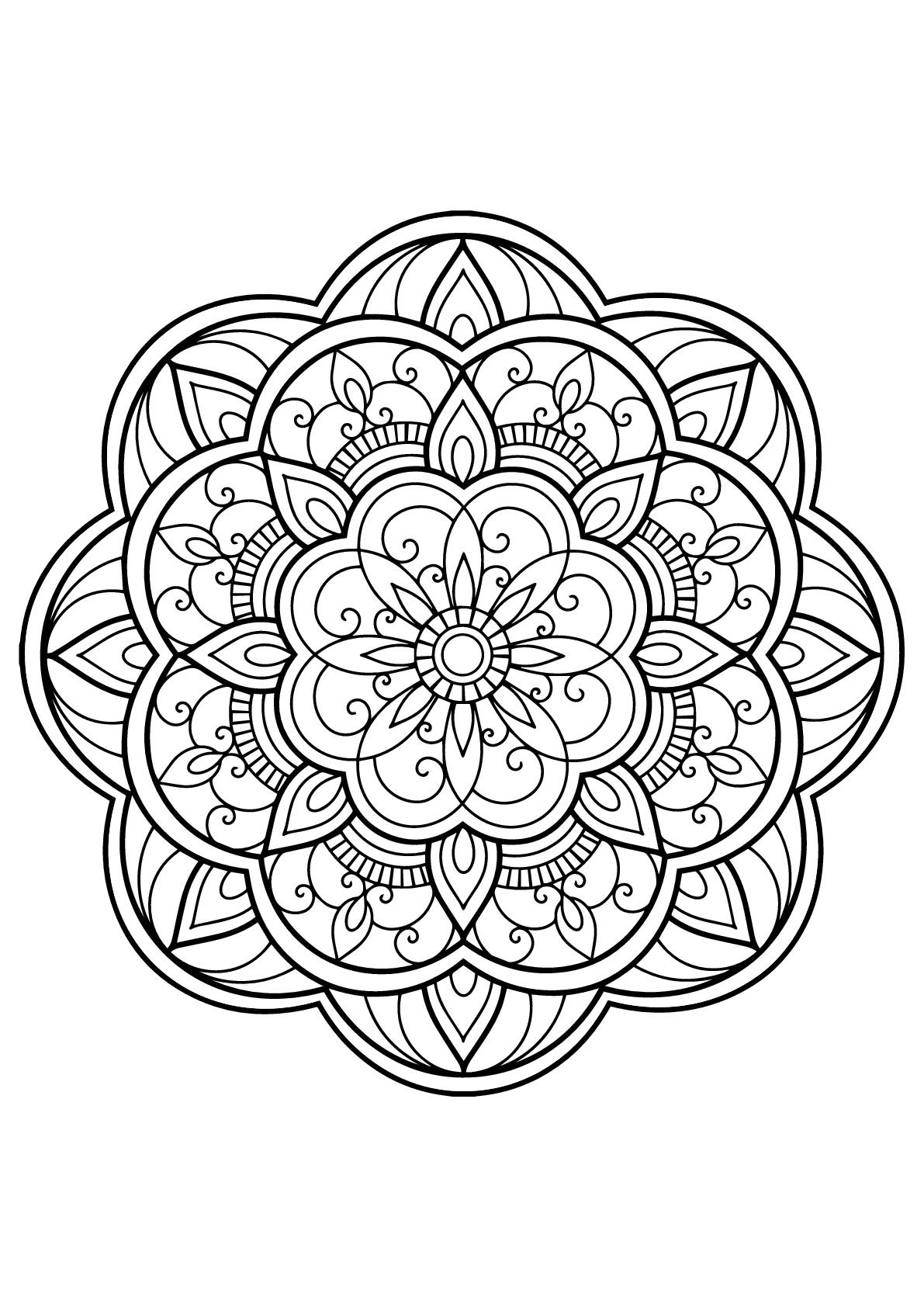 Mandala Livre Gratuit 14 - Mandalas - Coloriages destiné Jeux De Coloriage Gratuit Pour Adulte