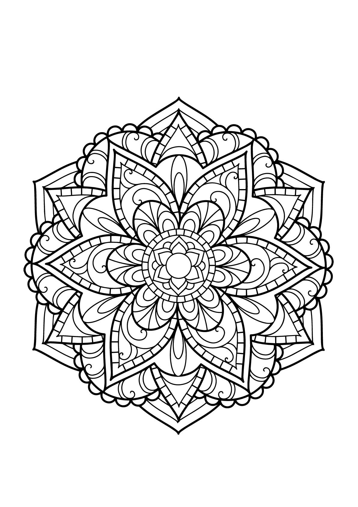 Mandala Livre Gratuit 15 - Mandalas - Coloriages tout Coloriage Mandala Adulte A Imprimer