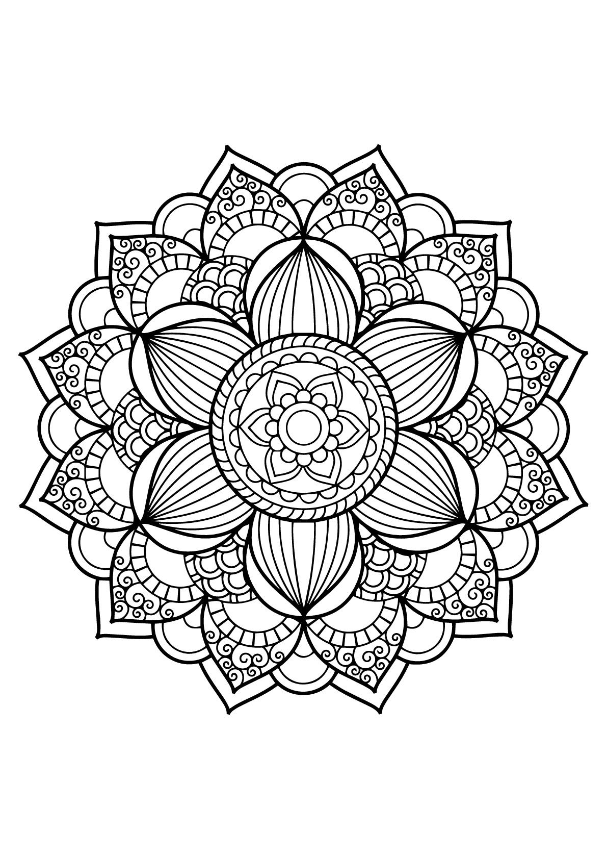 Mandala Livre Gratuit 17 - Mandalas - Coloriages encequiconcerne Coloriage