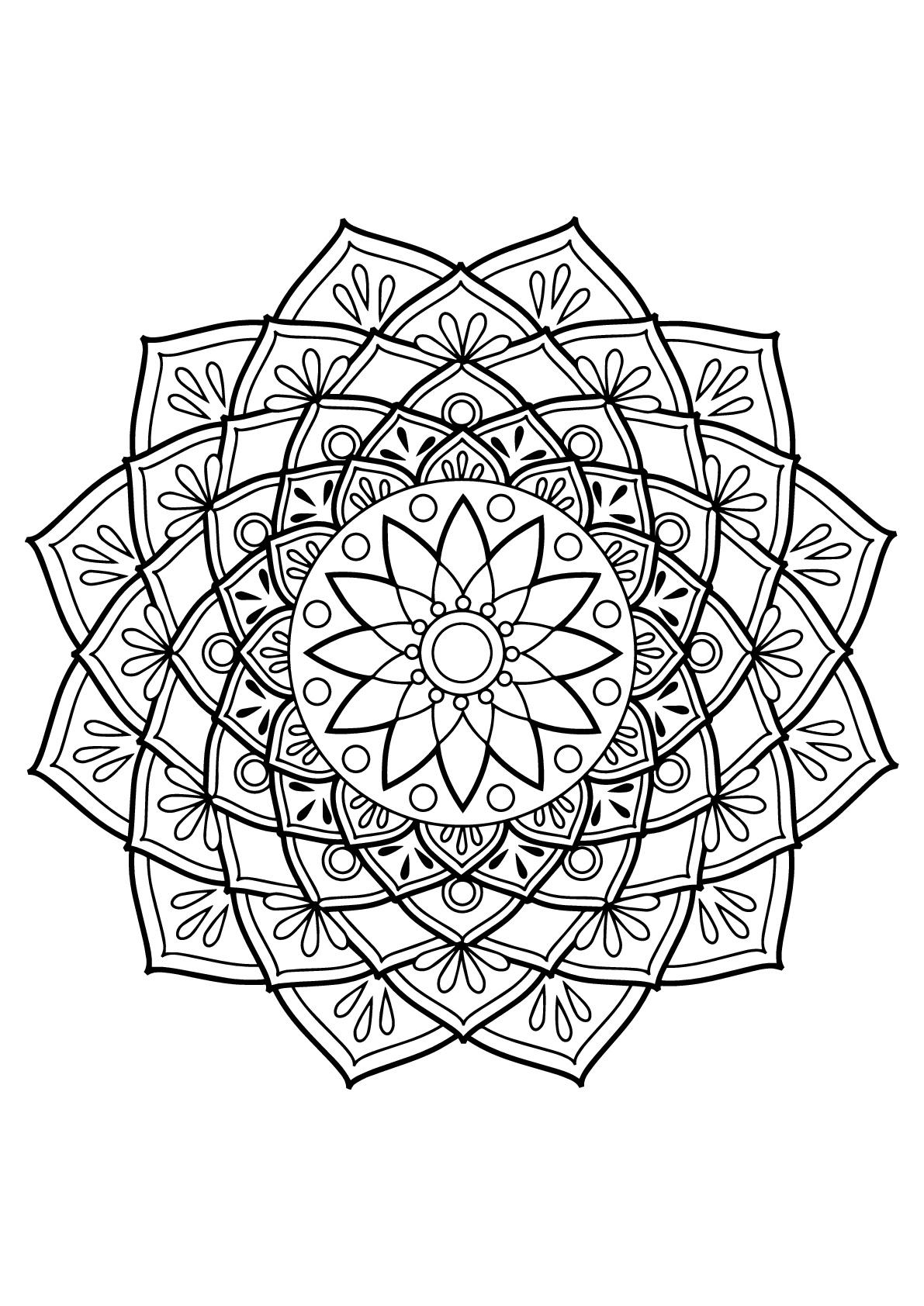 Mandala Livre Gratuit 19 - Mandalas - Coloriages avec Coloriage Mandala Adulte A Imprimer