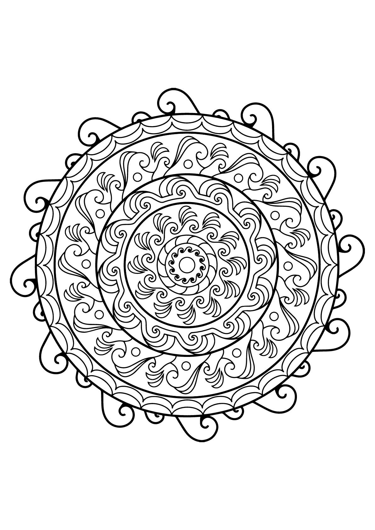 Mandala Livre Gratuit 21 - Mandalas - Coloriages concernant Livre Coloriage Adulte