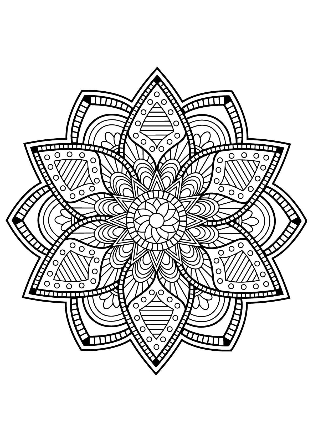 Mandala Livre Gratuit 24 - Mandalas - Coloriages pour Livre De Coloriage Pour Adulte