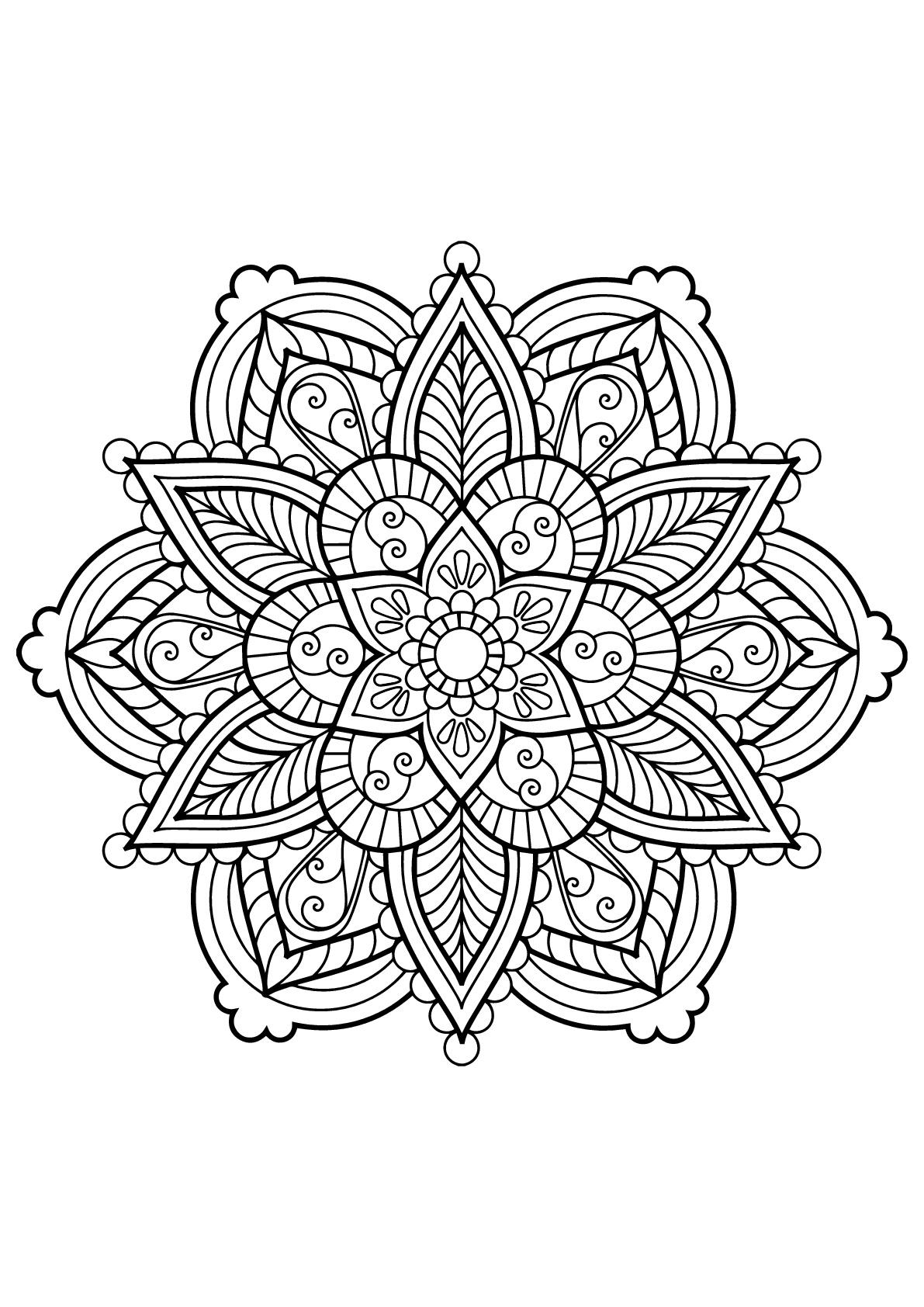 Mandala Livre Gratuit 28 - Mandalas - Coloriages intérieur Coloriage À Gratter Adulte