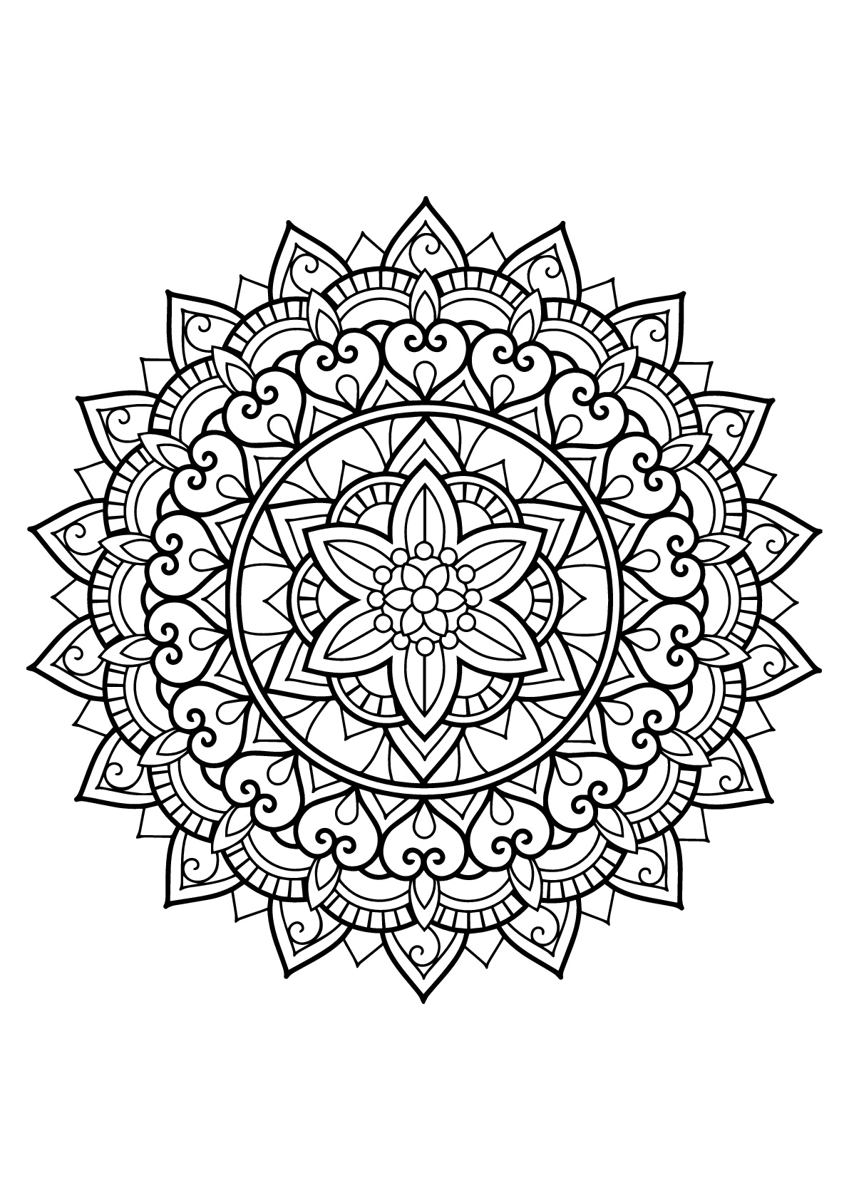Mandala Livre Gratuit 29 - Mandalas - Coloriages dedans Livre Coloriage Adulte