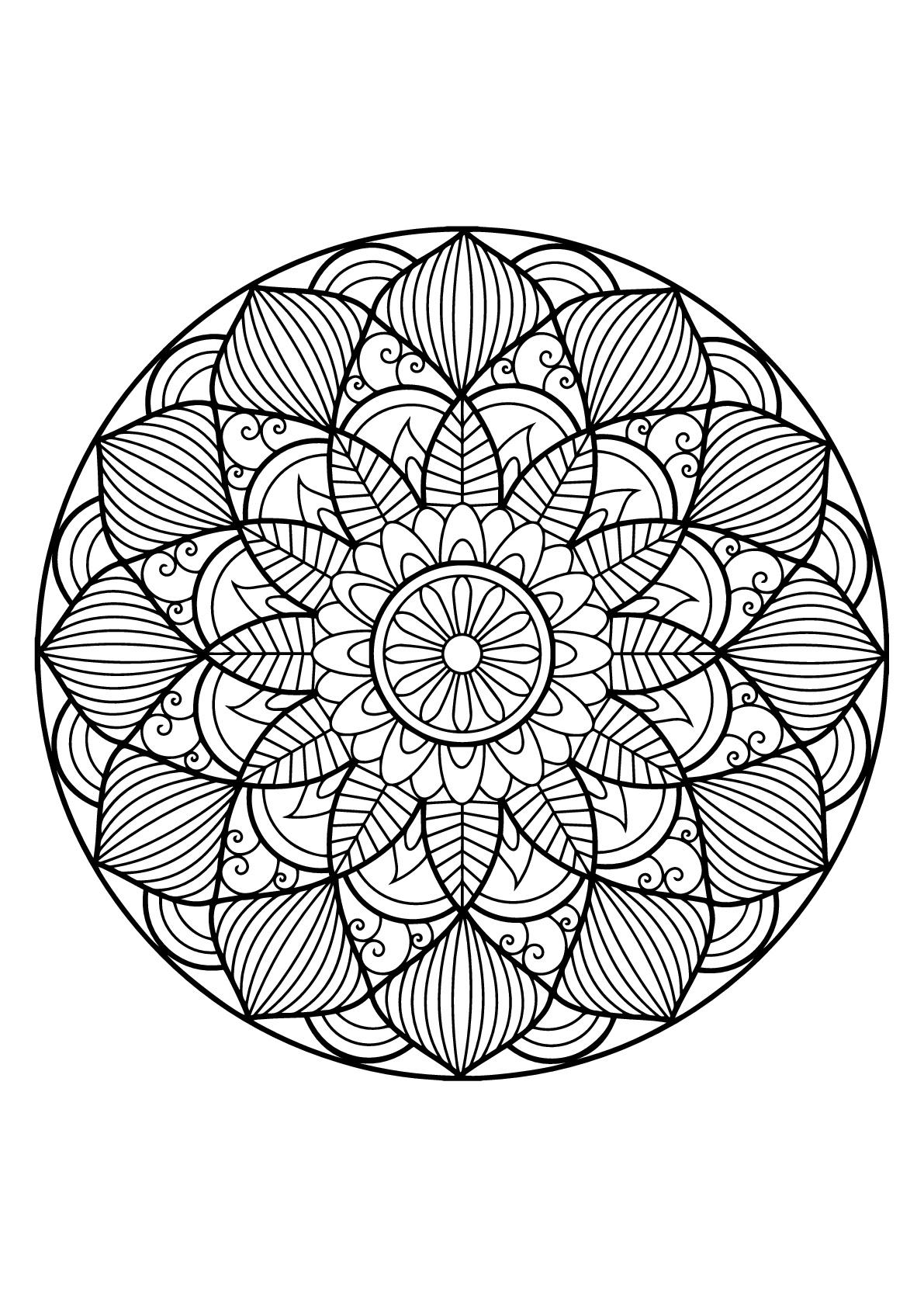 Mandala Livre Gratuit 30 - Mandalas - Coloriages dedans Coloriage Herisson A Imprimer Gratuit