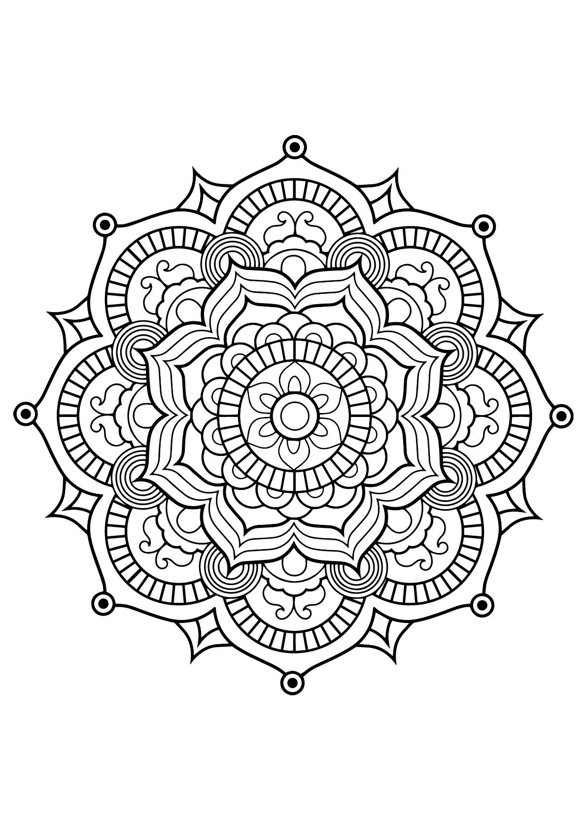 Mandala Livre Gratuit 8 - Mandalas - Coloriages Difficiles destiné Livre Coloriage Adulte